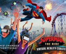 Le prima montagne russe con realtà virtuale vi faranno volare con Superman